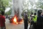 KECELAKAAN BANTUL : Baru Jalan Nanjak, Aki Mobil Konslet & Mengeluarkan Api