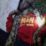 Pawang ular di Sragen ditemukan tewas terlilit ular, Selasa (26/7/2016) malam di Jurang Jero, Sragen. (Istimewa/Sumarno/Warga Jurang Jero Sragen)