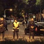 Polisi berjaga-jaga seusai tragedi penembakan di Munich, Jerman, Jumat (22/7/2016) malam waktu setempat. (JIBI/Reuters)