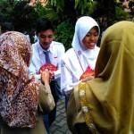 Kegiatan halal bihalal di hari pertama masuk sekolah di SMAN 3 Jogja, Senin Senin (18/7/206). (Uli Febriarni/JIBI/Harian Jogja)