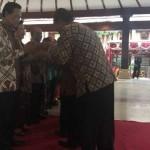 Sri Sultan HB X saat bersilaturahmi dan syawalan dengan seluruh komponen masyarakat di Pendopo Parasamya Bantul, Kamis (28/7/2016). (Yudho Priambodo/JIBI/Harian Jogja)