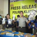 NARKOBA KLATEN : Polisi Bongkar Jaringan Narkoba Kelompok Napi LP Klaten dan Sragen