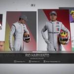 Penampakan Rio Haryanto di game F1 2016. (Istimewa)