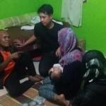 Waluyo saat berkumpul bersama keluarga. (JIBI/Deti/Edzan)