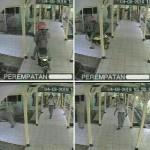 Foto yang beredar berupa capture diduga rekaman CCTV aksi pemuda nekat yang menerabas selasar RSUD Wonogiri, Kamis (4/8/2016) sore. (Istimewa)