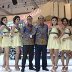 Deretan SPG Daihatsu pada Gaikindo Indonesia International Auto Show (GIIAS) 2016. (Imam Yudha S/JIBI/Solopos)