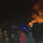 Kebakaran terjadi di toko bangunan Rajawali, Kelurahan/Kecamatan Tawangmangu, Karanganyar, Selasa (23/8/2016) malam. (Istimewa)