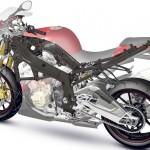 Paten sasis serat karbon BMW Motorrad. (Motorcyclenews.com)