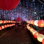 Pengunjung Menikmati Keindahan Lampion Taman Cerdas Jebres (Facebook)