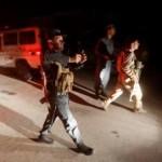 Polisi berjaga setelah serangan bom di Universitas Amerika, Afghanistan (Reuters)