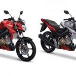 Yamaha Vixion Zeal Red (kiri) dan Luminous White (kanan). (Yamaha-motor.co.id)