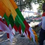 HUT KEMERDEKAAN RI : Pedagang Bendera Masih Sepi Pembeli