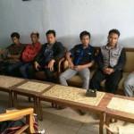 Perwakilan pemuda Bejiharjo saat melakukan audiensi tentang dugaan penarikan pungutan dalam pelantikan perangkat desa di ruang kepala desa Bejiharjo, Jumat (5/8/2016). (David Kurniawan/JIBI/Harian Jogja)