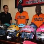 PENCURIAN MAGETAN : 3 Pencuri Spesiali Helm di Magetan Dibekuk Polisi