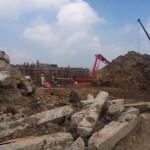 Pengerjaan proyek jalan tol Soker di Kemiri, Kebakkramat, Karanganyar, kembali dikebut seusai masa Lebaran 2016. Foto diambil pekan lalu. (Kurniawan/JIBI/Solopos)