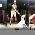 Aksi bejat pria yang menyiksa anjing. (Istimewa/Facebook)