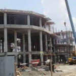 Proyek pembangunan gedung yang akan digunakan sebagai tempat evakuasi sementara di Desa Poncosari, Kecamatan Srandakan, Bantul. Kamis (22/9/2016) (Irwan A. Syambudi/JIBI/Harian Jogja)