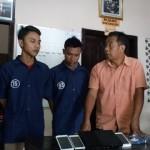 Polsek Serengan, Solo menangkap dua orang pelaku pencurian dengan pemberatan (Curat) di Mapolsek Serengan, Selasa (27/9/2016). (Muhammad Ismail/JIBI/Solopos)