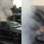 Bocah lima tahun atraksi burnout mobil (Dailymail.co.uk)