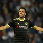 Cesc Fabregas merayakan gol. (Reuters / Darren Staples)