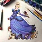 Cinderella bersama pokemon Pidgey, Rattata, Raticate dan Meowth. (Instagram @Wilberthgonzalez)