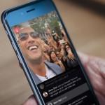 Dwayne Johnson menggunakan fitur Facebook Live (Thehustle.co)