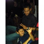 Farrel Arrafi Aditjanda dan ayahnya Danang Tri Prastowo. (Istimewa)