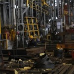 Salah satu ruang produksi kereta di PT INKA, Kota Madiun, Jawa Timur, Kamis (29/9/2016). (Abdul Jalil/JIBI/Madiunpos.com)