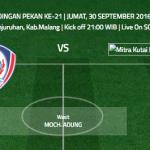 Arema Cronus vs Mitra Kukar (Indonesiansc)