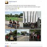 Tiga pria berniat keliling kota (Facebook/Taufik Anwar)