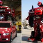 Mobil BMW M3 berubah menjadi mobil Transformers. (Indianexpress.com)