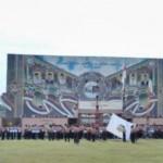 Peserta Jambore dan Raimuna tingkat Nasional mengikuti upacara pembukaan acara itu. (gontor.ac.id)