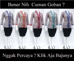 iklan blouse goban