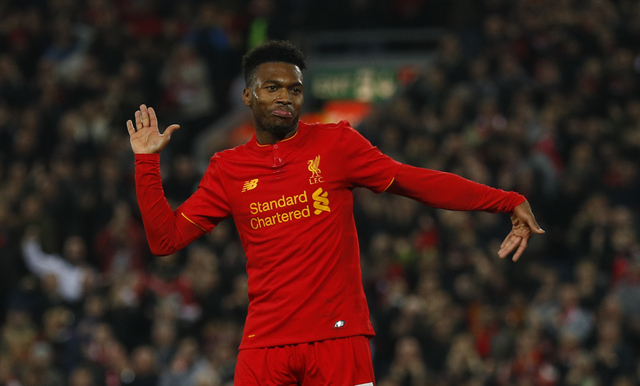Daniel Sturridge merayakan gol (Reuters / Phil Noble)