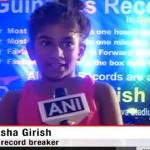 Deeksha Girish Pencetak Rekor Dunia Berguling (Okezone)