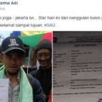 KISAH UNIK : Demi Istana Presiden, Pria Ini Jalan Kaki dari Jogja ke Jakarta