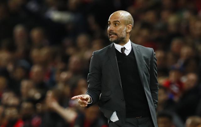 Pelatih Manchester City, Josep Guardiola. (Reuters / Jason Cairnduff)