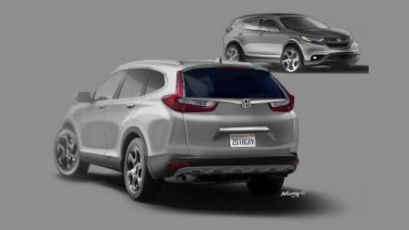 Prediksi Honda CR-V 2017. (Indianautosblog.com)