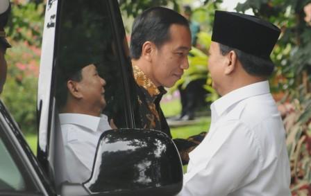 Presiden Jokowi bertemu Prabowo di Bogor, Senin (31/10/2016). (Setkab.go.id)