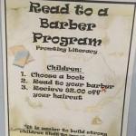 KISAH INSPIRATIF : Baca Buku Sambil Cukur Rambut Dapat Diskon