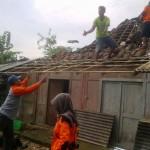 Puting Beliung Rontokkan Puluhan Rumah di Baturetno Wonogiri
