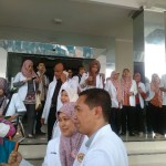UNJUK RASA PONOROGO : Tolak Program DLP, Puluhan Dokter Demo di Kantor Dinkes Ponorogo