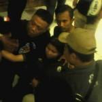 Sejumlah suporter perempuan digotong karena tumbang dalam kerusuhan saat PSS Sleman kontra Persepam Madura Utama digelar di Stadion Maguwoharjo Sleman, Sabtu (1/10). (Arief Junianto/JIBI/Harian Jogja)