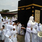 Ribuan Anak Ikut Manasik Haji di Masjid Agung Kulonprogo