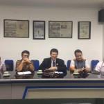 Direktur Komersial I Sucofindo, M Heru Riza chakim (tiga dari kiri) dan Customer Relation Manager Sucofindo, Hotma M Sibuca memberi penjelasan saat berkunjung ke Soolopos, Rabu (19/10/2016). (Rini Y/JIBI/Solopos)