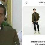 DEMO 4 NOVEMBER : Jaket Bomber Jokowi Saat Konferensi Pers Curi Perhatian