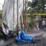 Sumur Pantek di Masaran Sragen Semburkan Gas Bumi