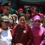 Ibu Negara Iriana Jokowi Kunjungi Klaten Kampanye Sadanis