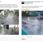 """Hujan Deras, """"Jeglongan"""" Jalan Rusak Soloraya Parah Banget"""