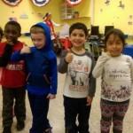 Murid-murid SD Benjamin Franklin setelah pemilu buatan (Facebook Benjamin Franklin Elementary School)